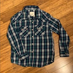 Peek Girls Plaid Snap Button Shirt